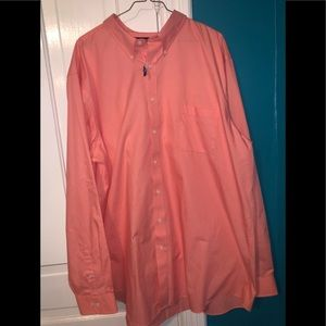 Men's peach colored dress shirt